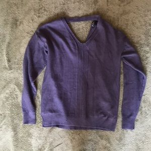 Poof Open Back Sweater